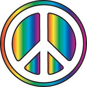 the peace symbol again...