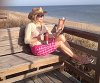 My Friend Debbie - Spring Snow at the Beach